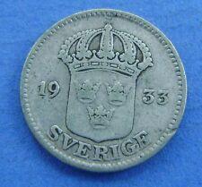 ZWEDEN SWEDEN 25 ore 1933 KM# 785