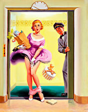 Going Down by Art Frahm A3 High Quality Canvas Art Print