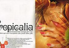 PUBLICITE  1968  CUTEX  cosmétiques ongles TROPICALIA  ( 2 pages)