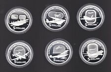 2008 2009 2010 MASTERPIECES IN SILVER FLYING THROUGH TIME  AVIATION PROOF SET