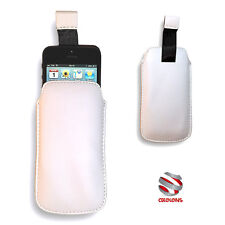 CUSTODIA A SACCHETTO IN ECOPELLE PER IPHONE 5 5S 5C COVER CASE BIANCA POUCH