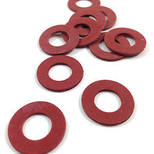 M10 (10mm) RED FIBRE FLAT SEALING WASHERS, PACK OF 10 - WASHER- PC - BS6091