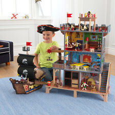 Kidkraft Wooden Pirate Cove Ship Kids Playset- PIRATE SHIP & PIRATE HIDEOUT