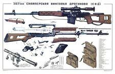 *Color POSTER Soviet Russian SVD Dragunov Sniper Rifle BIG SIZE Manual BUY NOW!