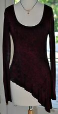 BEAUTIFUL ERGE SIZE/S BURGANDY ASYMMETRICALTOP