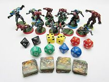 Battleball Game Team Miniatures Board Game Part Pieces Pawn Dice Future Football