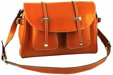 Giorry Yippydada Paris Genuine Leather Baby Diaper Bag, Orange