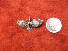 "STUNNING VTG ANTIQUE STERLING SILVER ""WINGED BIRD OF PREY"" GARNET BROOCH/PIN VGC"