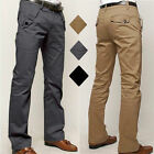 Mens Cotton Casual Chinos Pants Slim Straight-leg Formal Business Jeans Trousers