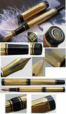 PARKER DUOFOLD CENTENNIAL GOLD  FOUNTAIN PEN MED PT NEW IN ORIGINAL  BOX 91312