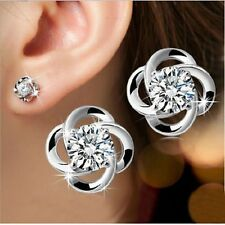 Fashion Earrings Rotary love Stud 925 Silver Plated Wedding Party Earrings