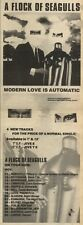 14/11/81PGN31 ADVERT: A FLOCK OF SEAGULLS MODERN LOVE IS AUTOMATIC 15X5
