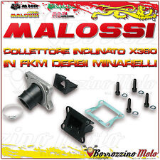 MALOSSI 2013800 COLLETTORE INCLINATO X360 Ø 21 - 24,5 HM CR E DERAPAGE 50 2T AM6