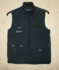 Blue Fabric BRUMS Zip Hip Length Multipocket Travel Waistcoat Size 10 / 140 cm