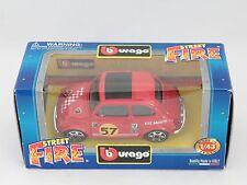 [PH3-3] BBURAGO BURAGO 1/43 STREET FIRE FIAT 500 SPORT ABARTH ROSSO RED N.57 NIB