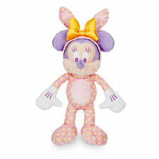 """Disney Store Parks Authentic Minnie Mouse Easter Bunny Plush Toy 9"""" Girls Doll"""