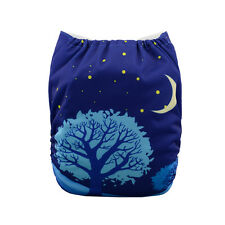 AlvaBaby Reusable  Washable Cloth Diaper Pocket Nappy +1Insert YD41 Night Sky