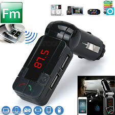 Dual USB Auto Kit Charger Wireless Bluetooth Stereo MP3 Player FM Transmitter