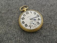 I14 HAMILTON 992e ELINVAR 16s 21j Railroad Grade Pocket Watch 10K GF 1938 *NICE*