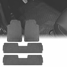 3 Row Car Floor Mats for All Weather Rubber Tactical Fit Heavy Duty Gray