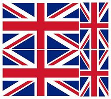 4 X UNION JACK FLAG GREAT BRITAIN VINYL ENGLAND CAR VAN IPAD LAPTOP STICKER