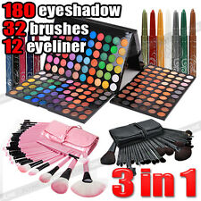 EYE Shadow 180 Color Eyeshadow Palette+32pcs Makeup Brush set +12 Color Eyeliner