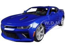 2016 CHEVROLET CAMARO SS BLUE 1:18 DIECAST MODEL CAR BY MAISTO 31689