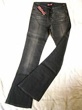 Killah By Miss Sixty vaqueros elásticos w26/l36 Denim X-low waist slim fit Flare leg