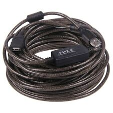 15M 50Ft USB 2.0 Extension Cable With Booster Repeater Extender AA MF
