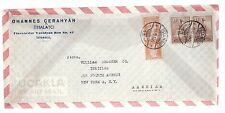 1947 Istanbul Turkey  commercial airmail cover to USA