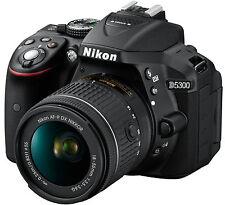 Nikon D5300 DSLR Camera with AF-P 18-55mm Lens (Black)