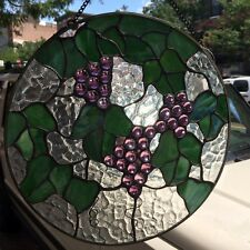 Tiffany Styled Stained Glass Window Panel 12'' Round [9038-J]