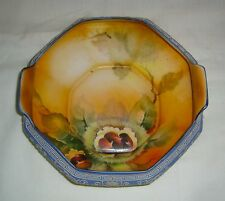 ANTIQUE MORIMURA BROS HAND PAINTED NUTS ~ MORIAGE NIPPON WEDGWOOD GREEK KEY BOWL