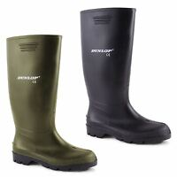 Mens Dunlop Hunting Waterproof Walking Wellies Rain Festival Wellington Boots