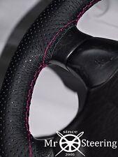 Per FIAT 500 07+ Fori Volante in Pelle Rosa Caldo Copertura doppia cucitura