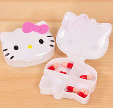 New Cute Pink Bow Hello Kitty Pill Box Organizer Medicine Vitamin Storage Travel