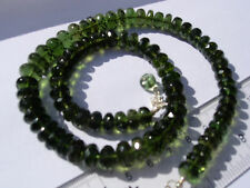 150 carats of checkered cut beads about 6 x 3mm MOLDAVITE necklace 18 inches