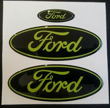 Ford Mondeo Mk2 Gel Overlay Badges DMB Graphics Black/Lime Green ST200/ST24 etc