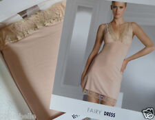 new Wolford nude slip XS crochet lace stretch jersey Fairy Dress boxed