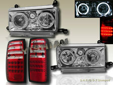 91 92 93 94 TOYOTA LAND CRUISER FJ82 HALO CLEAR LENS HEADLIGHTS+ LED TAIL LIGHTS