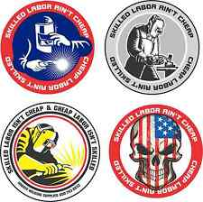 Lot of 4 Hard Hat Stickers Helmet Hood Tool Box Decal Label Welder Made in OHIO