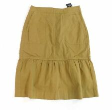 NWT J Crew Garment Dyed Chino Ruffle Skirt Size 4 F8336 Dried Moss $110 NEW