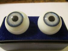 18 mm Vintage Lavender Glasaugen Glass Eyes 11 mm Iris W. Germany Doll Mannequin