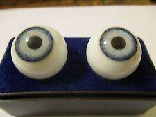 16 m Vintage Lavender Glasaugen Glass Eyes 9.5 mm Iris W. Germany Doll Mannequin