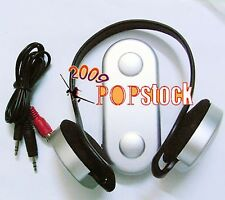 Wireless Cordless Headset Headphone Earbuds with FM For TV PC Laptop Netbook