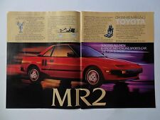 1985 Print Ad Toyota MR2 Sports Car Automobile ~ Be Selfish For a Change