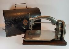ANTIQUE ART DECO SALTER IDEAL B PORTABLE CHAIN STITCH SEWING MACHINE c1920 CASED