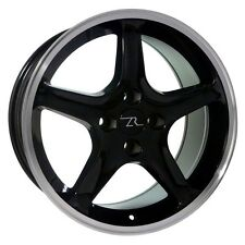 "17"" Black Ford Mustang Cobra R ® Style Wheels Set (4) 17x8 4x108 Rims 87-93"