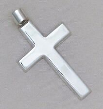 "Large 2"" Solid 925 Sterling Silver Cross Pendant Genuine Men's 6 grams"