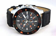 New Fashion Curren TAGER Branded Wristwatch Leather Strap Military wrist Watch